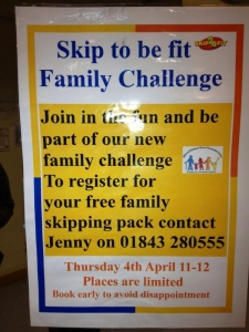 Results of Family Fitness Pack Pilot at Surestart Margate